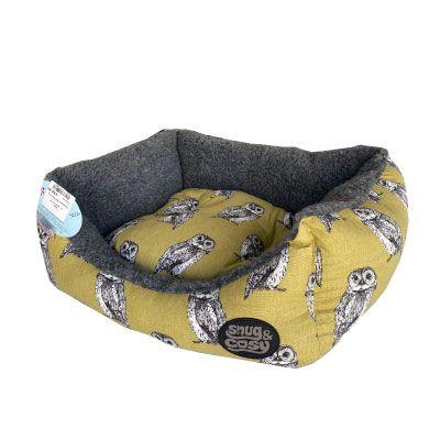 Snug & Cosy Rectangular Bed Owl Print