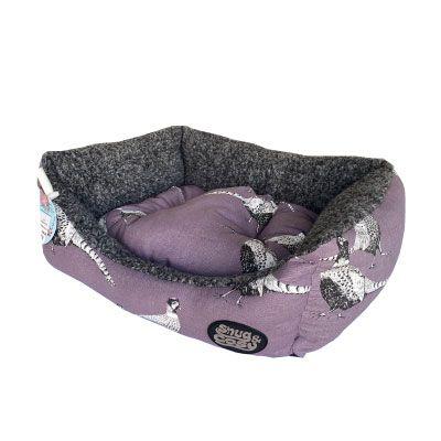 Snug & Cosy Rectangular Bed Pheasant Print