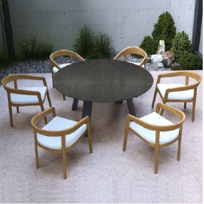 Westminster Ocean/Churchill Round 8 Seat Dining Set
