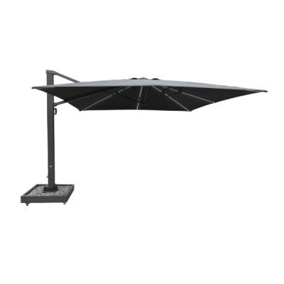 Westminster Titan 3.5m x 3.5m Square Cantilver with Lights & Cover Natural