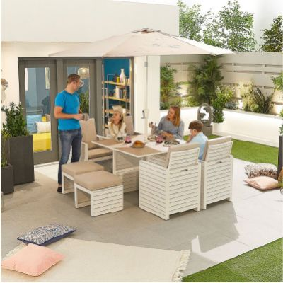 Westminster Tomorrow 4 Seat Cube Dining Set