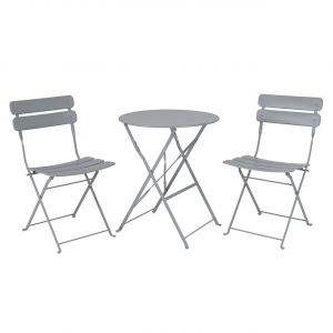 Premier Nimes 2 Seater Folding Bistro Set Grey