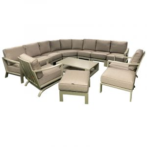 Kensington Carmel Deluce Corner Set with Rocking Armchairs