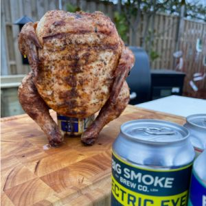 Cooking up some Beer Can Chicken